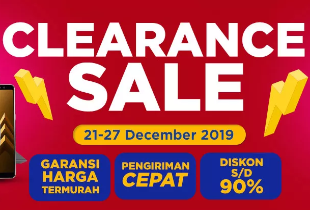 Clearance Sale Diskon s/d 90%