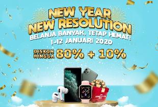 New Year Resolution | Diskon s/d 80% + 10%