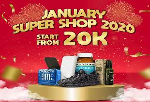 January Super Shop 2020 Mulai dari 20RB
