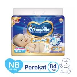 MamyPoko Popok Perekat Extra Soft NB84