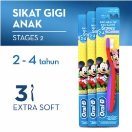 Sikat Gigi Oral-B Stages 2 - Pack of 3