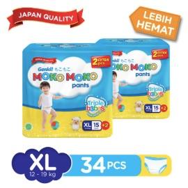 Genki Moko Moko Pants XL 15 pcs + 2 pcs X 2