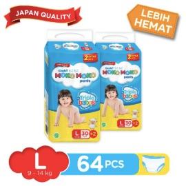 Genki Moko Moko Pants Jumbo L-30 + 2 pcs (2 packs)