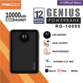 Recci RG-10000 Genius LED Screen Powerbank [10000 mAh]