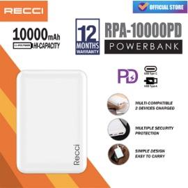 RECCI RPA-10000PD ABS Powerbank [10000mAh]