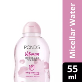 [Travel Size] Ponds White Beauty Vitamin Micellar Water Brightening Rose 55ML - Skin Care Pembersih Wajah & Makeup Remover untuk Kulit Normal