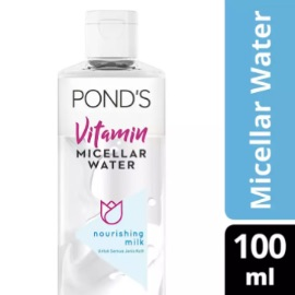 PONDS VITAMIN MICELLAR WATER (WATERPROOF MAKEUP REMOVER) NOURISHING MILK 100ML