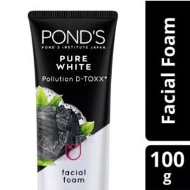 Ponds Pure White Facial Foam Sabun Muka Pembersih Wajah Charcoal 100g