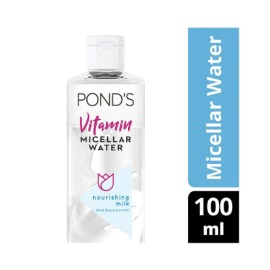 Ponds Nourishing Milk Vitamin Micellar Water Waterproof Makeup Remover [100 mL]