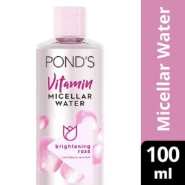 Pond's Micellar Water Pembersih Wajah Vitamin Brightening Rose 100 ml