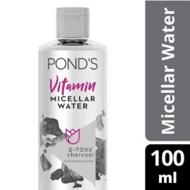 Pond's Vitamin Micellar Water (Makeup Remover) D-Toxx* Charcoal 100 ml