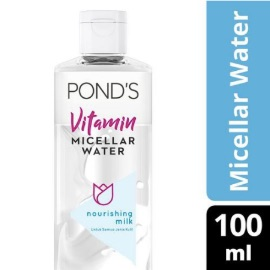 Pond's Vitamin Micellar Water (Waterproof Makeup Remover) Nourishing Milk 100 ml