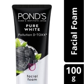 Ponds Pure White Facial Foam Sabun Muka Pembersih Wajah Charcoal 100g Deep Cleansing Anti Bakteri