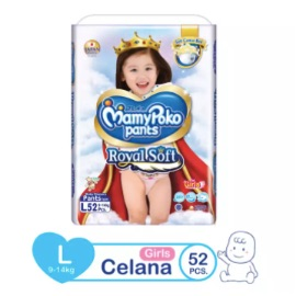 MamyPoko Popok Pants Royal Soft - L 52 - Girls