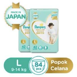 Pampers Popok Celana Premium Care L-42 Paket Isi 2