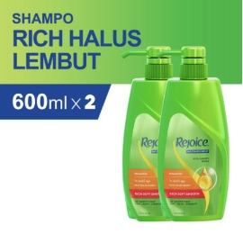Rejoice Shampoo Rich Halus Lembut 600 ml Paket Isi 2 [P&G]